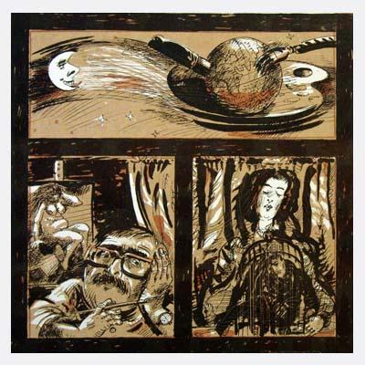 Holzschnitt & Lithographie - Hannes H Wagner - Titelbild