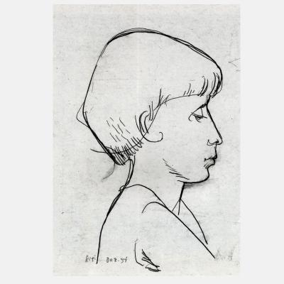 Hannes H. Wagner - Sigi (Die Schwester des Künstlers)
